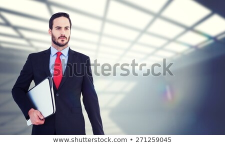 Stern businessman in a light suit Stock photo © pzaxe