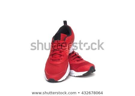 красный кроссовки изолированный серый аннотация рок Сток-фото © czaroot