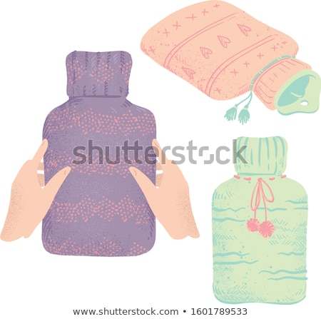 rubber hot water bottle in a knitted cover color Stock photo © RuslanOmega
