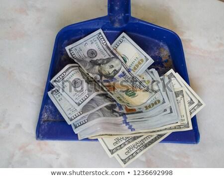 dollár · szemét · konzerv · 3D · renderelt · illusztráció - stock fotó © pzaxe