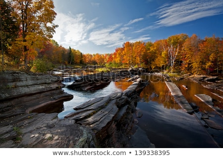 Autumn Midwest Waterfall Stock photo © Kenneth_Keifer