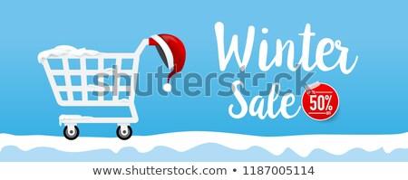 Abstract winkelwagen achtergrond verkoop creatieve tekst Stockfoto © rioillustrator
