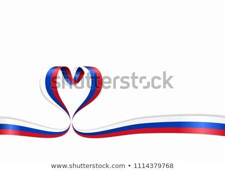 Россия · флаг · формы · сердца · иллюстрация · дизайна · искусства - Сток-фото © perysty