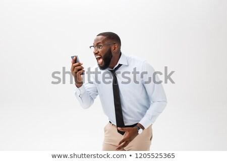 üzletember rázkódás telefon arc portré személy Stock fotó © photography33