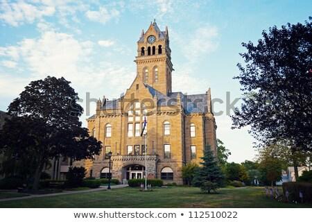 Otawa tribunal porta Ohio EUA céu Foto stock © benkrut