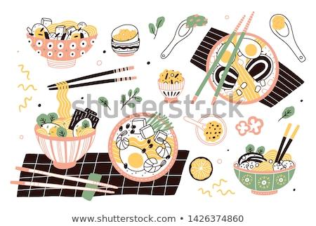 çanak et suyu havuç öğle yemeği diyet beslenme Stok fotoğraf © M-studio