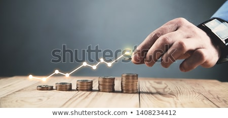 Beneficio gráfico negocios dinero escrito Foto stock © raywoo