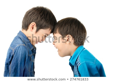 Stock photo: Sibling argument