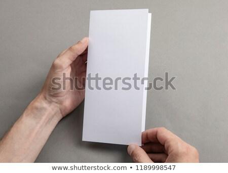 insan · eli · boş · plastik · yalıtılmış · beyaz - stok fotoğraf © a2bb5s
