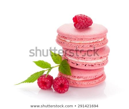 raspberry macaroons isolated on white Stock photo © M-studio