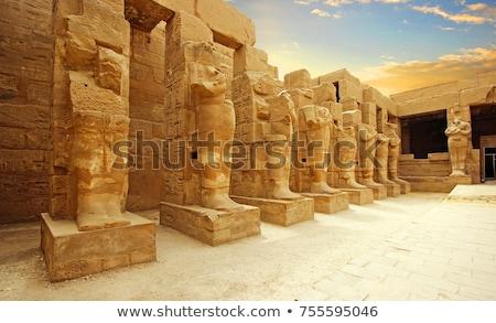 Pierre statue Egypte temple égyptien pharaon Photo stock © Gbuglok