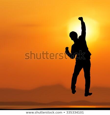 радостный бизнесмен воздуха празднования белый человека Сток-фото © wavebreak_media