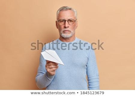 üzletember tart szemüveg izolált fehér arc Stock fotó © wavebreak_media