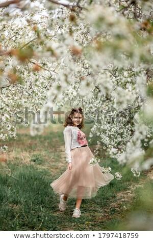 mutlu · güzel · esmer · sigara · beyaz · seksi - stok fotoğraf © acidgrey