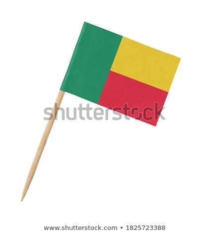 Miniatuur vlag Benin geïsoleerd vergadering Stockfoto © bosphorus