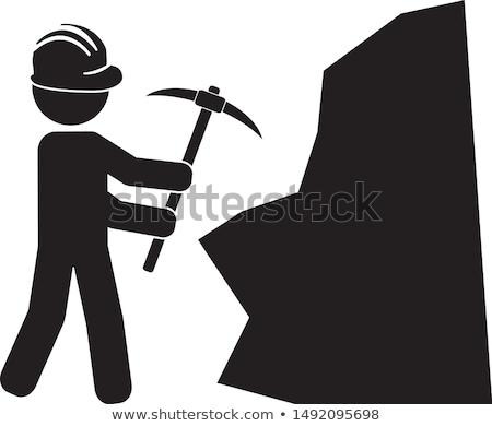 Man using pick-axe Stock photo © photography33