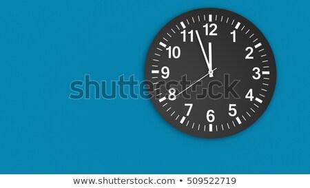 Clock is showing almost twelve Stock photo © carenas1