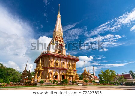 Fachada budista templo Tailândia pormenor velho Foto stock © pzaxe
