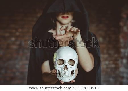 красивая женщина череп красивой молодые панк Сток-фото © piedmontphoto