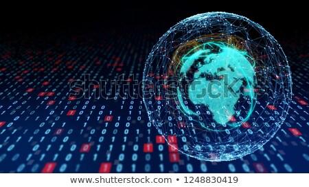 Europa África comunicação global planeta comunicação mundo Foto stock © fenton