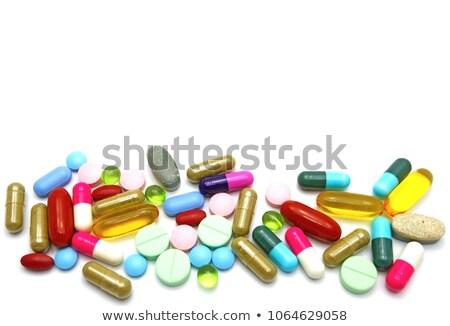 Accent mise au point sélective premier plan beaucoup vitamines soft Photo stock © Gordo25