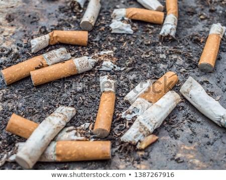 cigarette · vue · verre · cendrier · plein · santé - photo stock © gemphoto