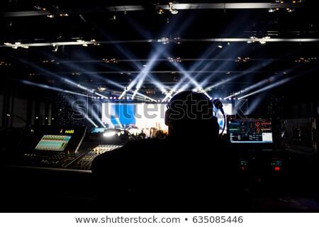 werken · verlichting · licht · Blauw · persoon · dak - stockfoto © smithore