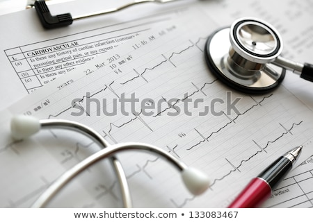 Heart illness medical chart Stock photo © Lightsource