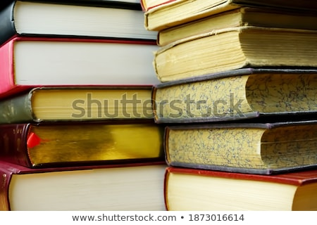 Stockfoto: Twee · oude · verweerde · boeken · antieke · geïsoleerd