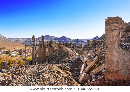 Abandoned Antique Structure on a Mountain Stock photo © eldadcarin