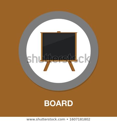 fából · készült · szöveg · levelek · szó · felirat · kék - stock fotó © compuinfoto
