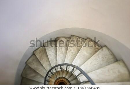 Bağbozumu görmek mermer merdiven yüksek Stok fotoğraf © kyolshin