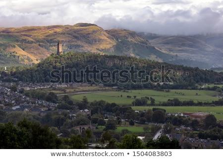 Stockfoto: Slagveld · abdij · Schotland · landschap · oude · brug