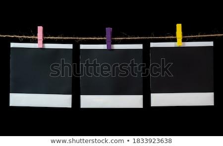 Foto stock: Cuadrados · Polaroid · transferir · blanco · textura · espacio