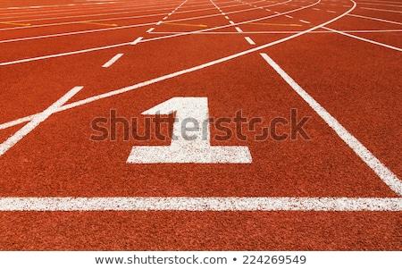 corrida · seguir · atletismo · tempo - foto stock © stevanovicigor