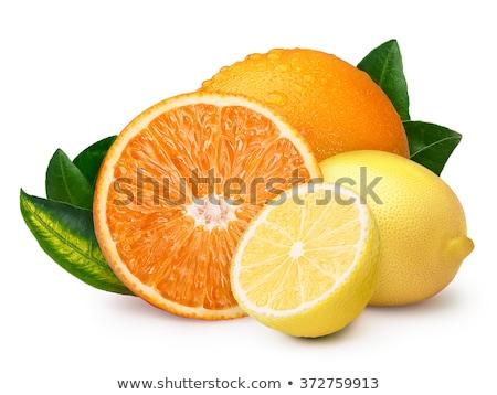 geheel · oranje · citroen · geïsoleerd · witte · vruchten - stockfoto © sarahdoow
