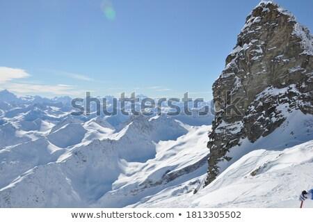 Kék jég alpesi gleccser Új-Zéland tájkép Stock fotó © wildnerdpix