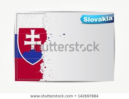 Eslovaquia · bandera · banderas - foto stock © maxmitzu