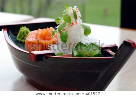 лодка суши Повара свежие тунца лосося Сток-фото © rohitseth