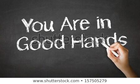 Сток-фото: хорошие · рук · мелом · иллюстрация · человек · рисунок