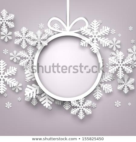 Navidad nieve postal rojo dorado Foto stock © vavlt