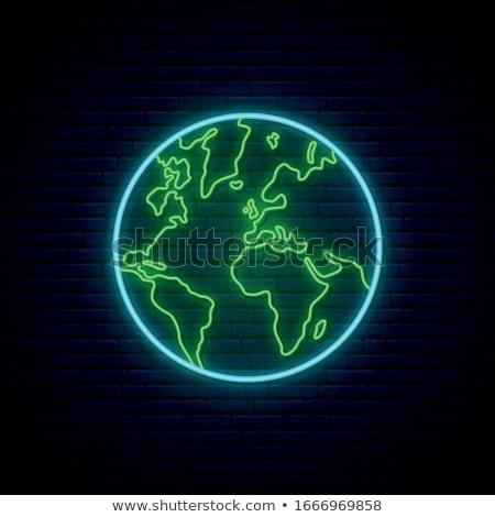 地球 · ネオン · グロー · レンダリング · ビジネス · インターネット - ストックフォト © taden