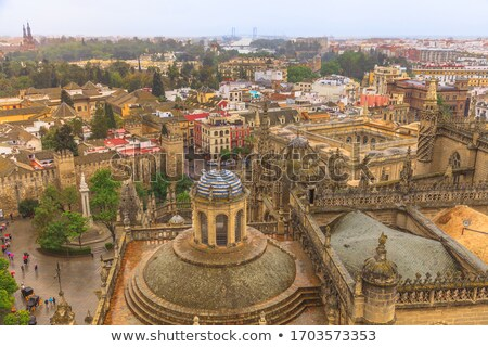 City View and Plaza Alcazar from Giralda Tower Seville Cathedral Stock photo © billperry