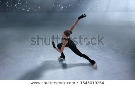 ストックフォト: 図 · スケート · スケート · 白 · 少女 · スポーツ