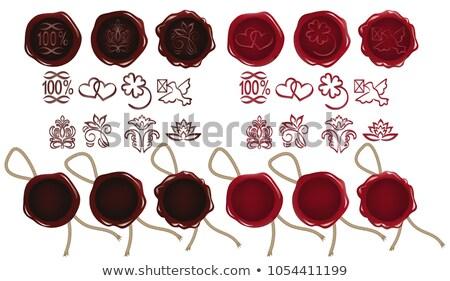 Organic - Stamp on Red Wax Seal. Stock photo © tashatuvango