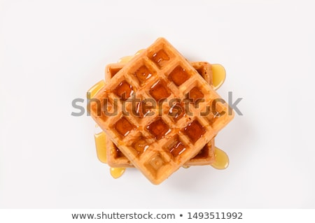 voedsel · heerlijk · wafel · tabel · ontbijt · dessert - stockfoto © stocksnapper