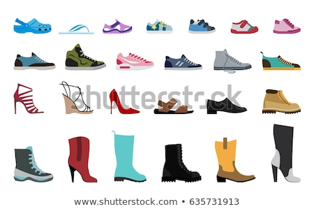 ayarlamak · erkek · kadın · ayakkabı · spor - stok fotoğraf © egrafika