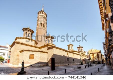 Kilise çapraz saat Stok fotoğraf © rhamm