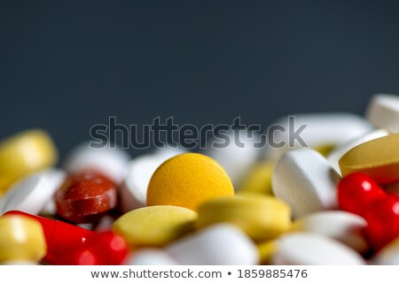 macro shot of assorted pills stock photo © dacasdo