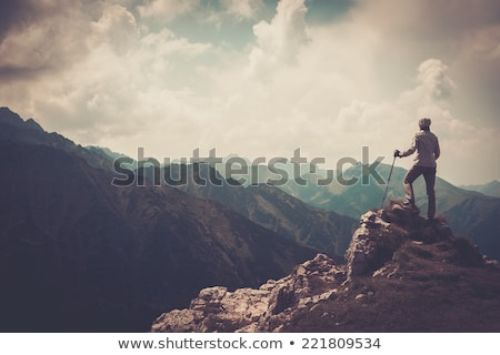 Stock photo: hiking in the mountain